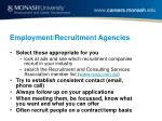 employment recruitment agencies