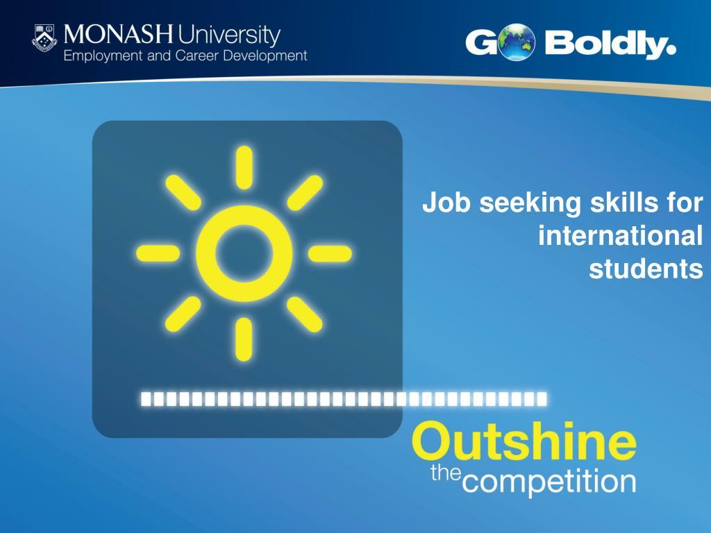 Job seeking skills for international students