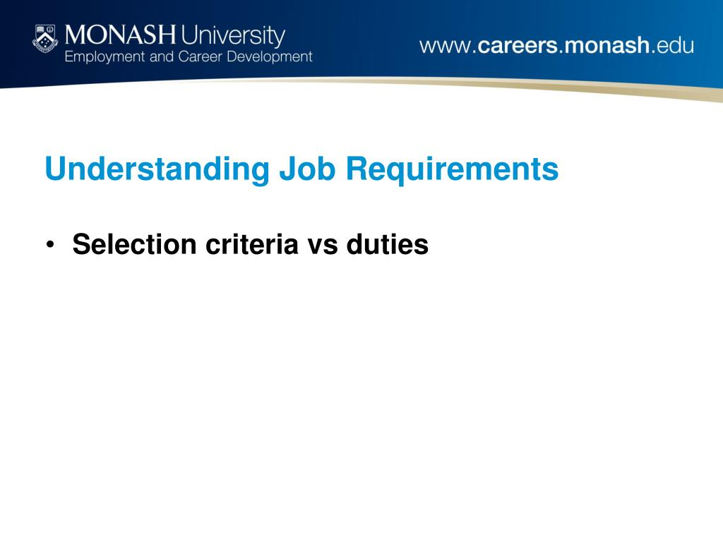 Understanding Job Requirements