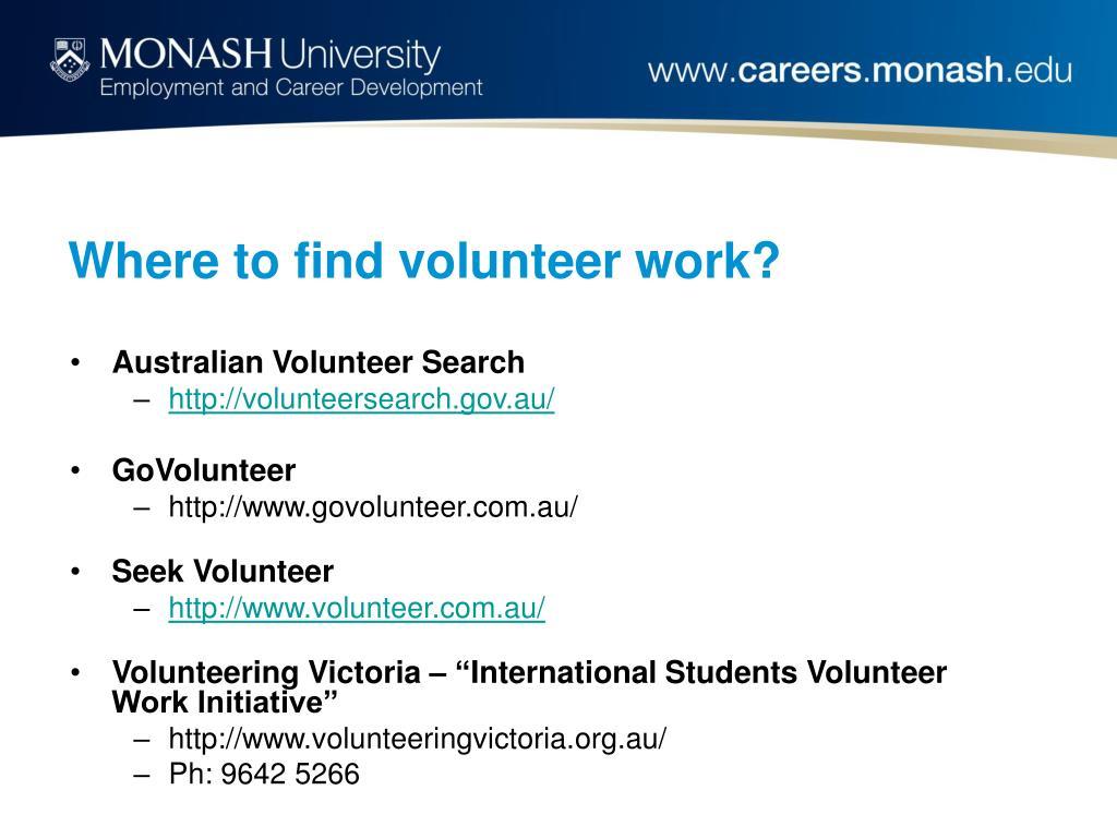 Where to find volunteer work?