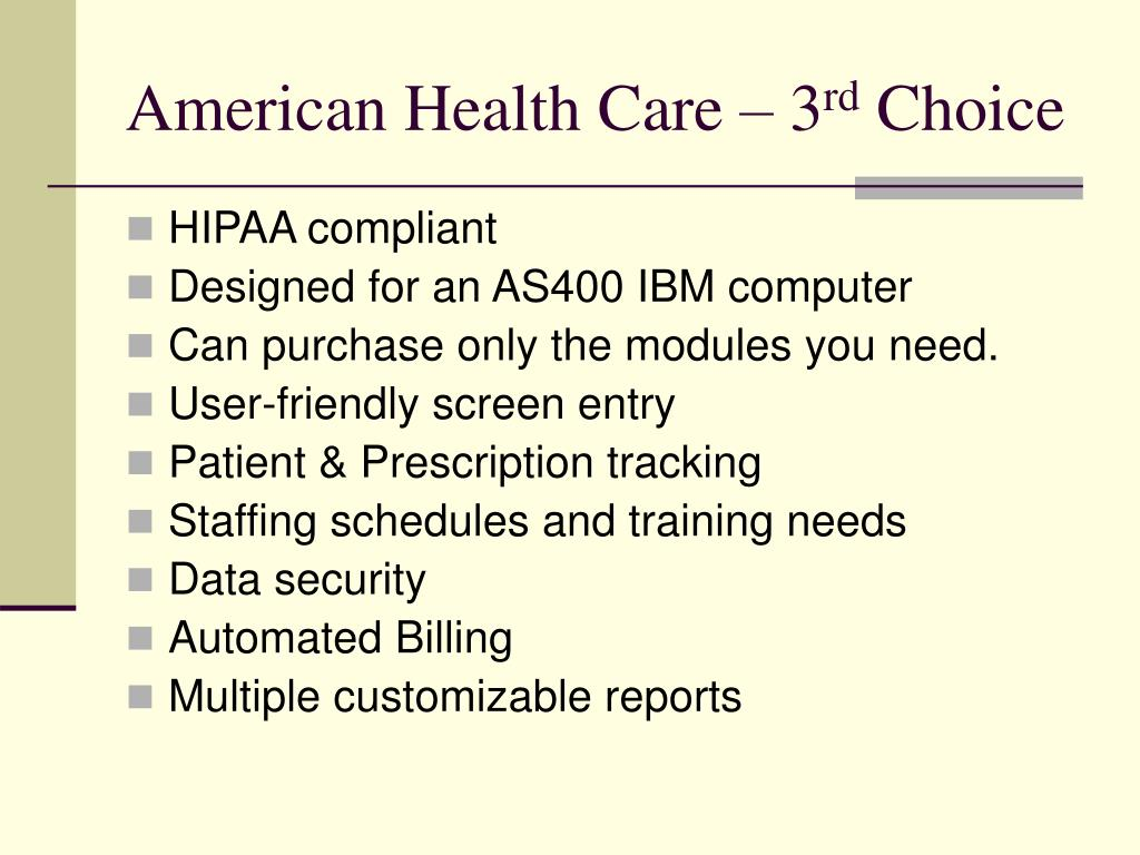 American Health Care – 3