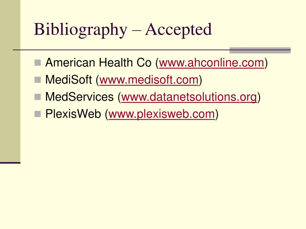 Bibliography – Accepted