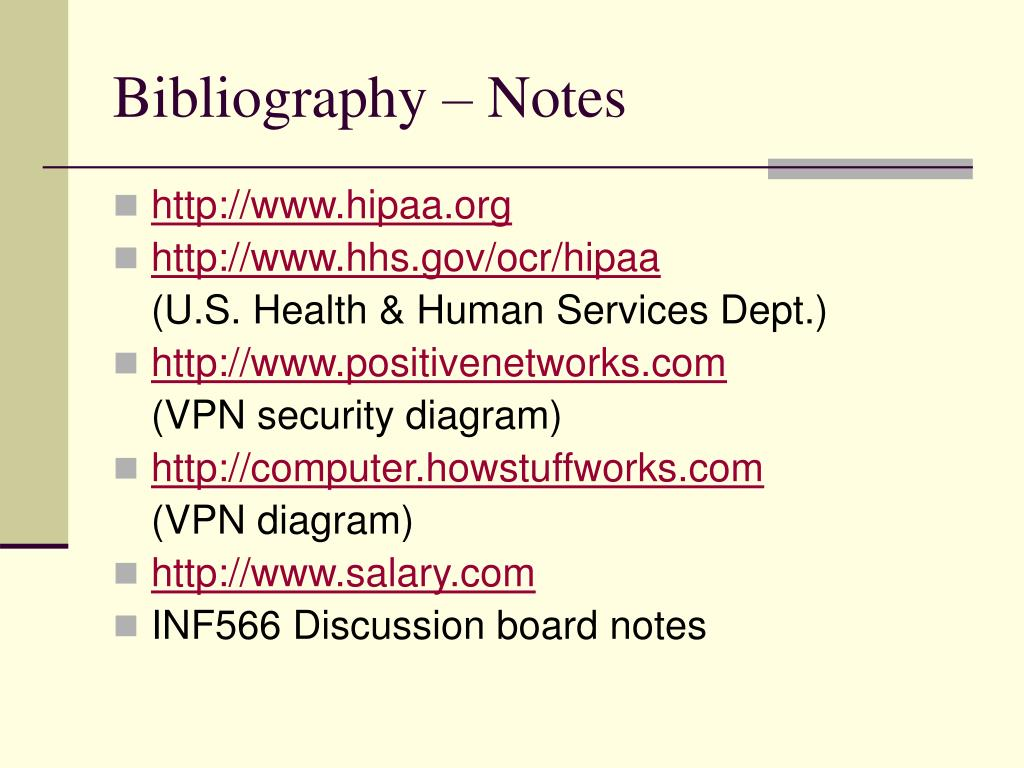 Bibliography – Notes