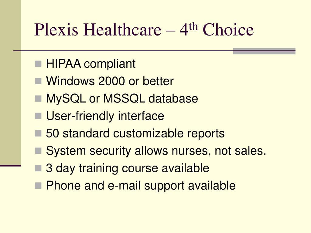 Plexis Healthcare – 4