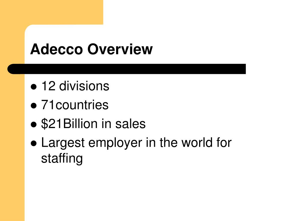 Adecco Overview