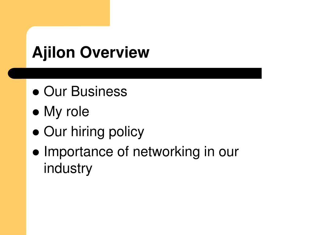 Ajilon Overview