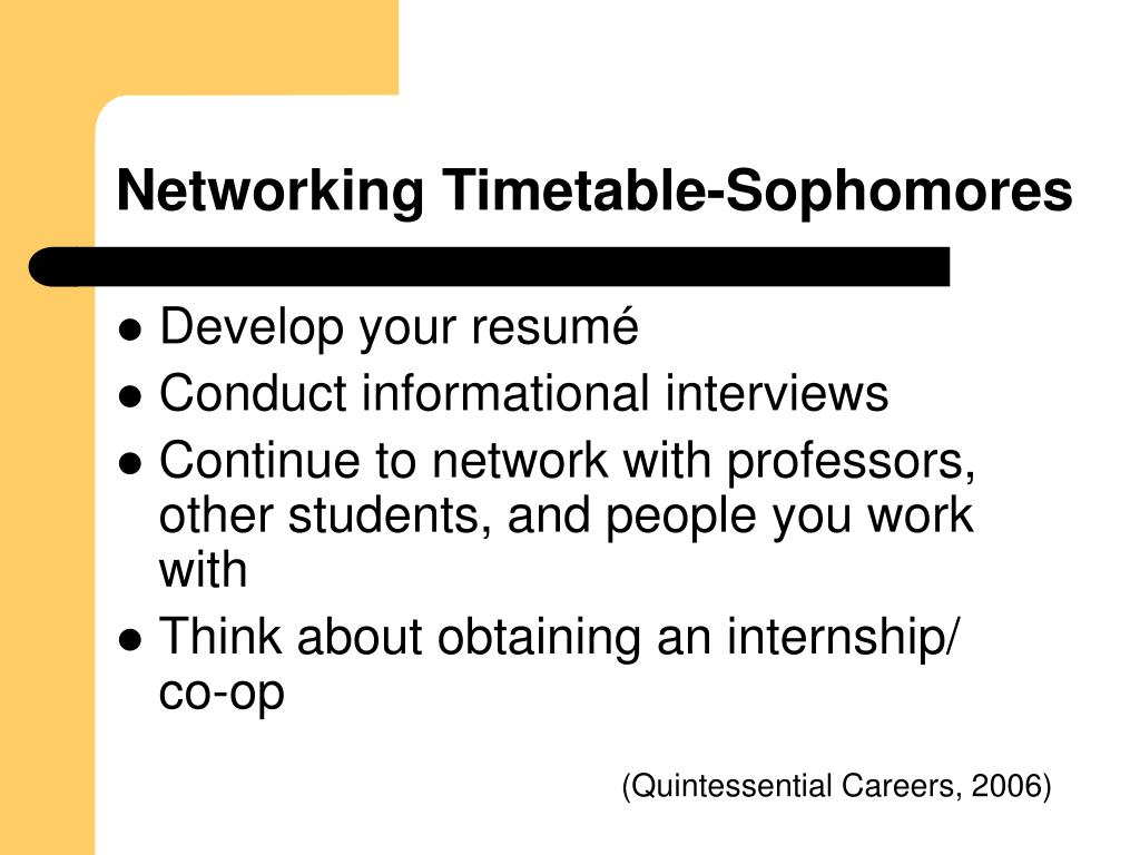 Networking Timetable-Sophomores