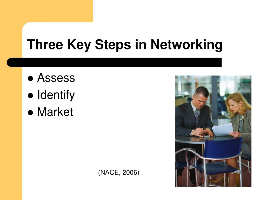 Three Key Steps in Networking