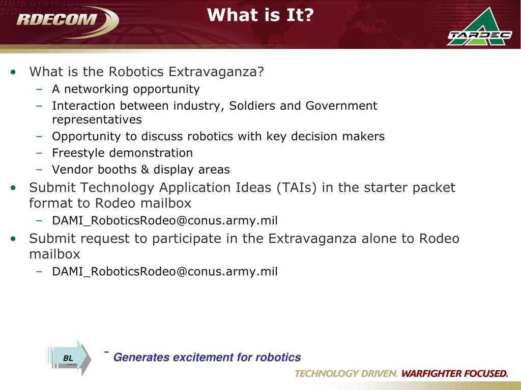 What is the Robotics Extravaganza?