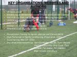 key organisations websites and authors