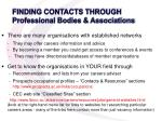 finding contacts through professional bodies associations
