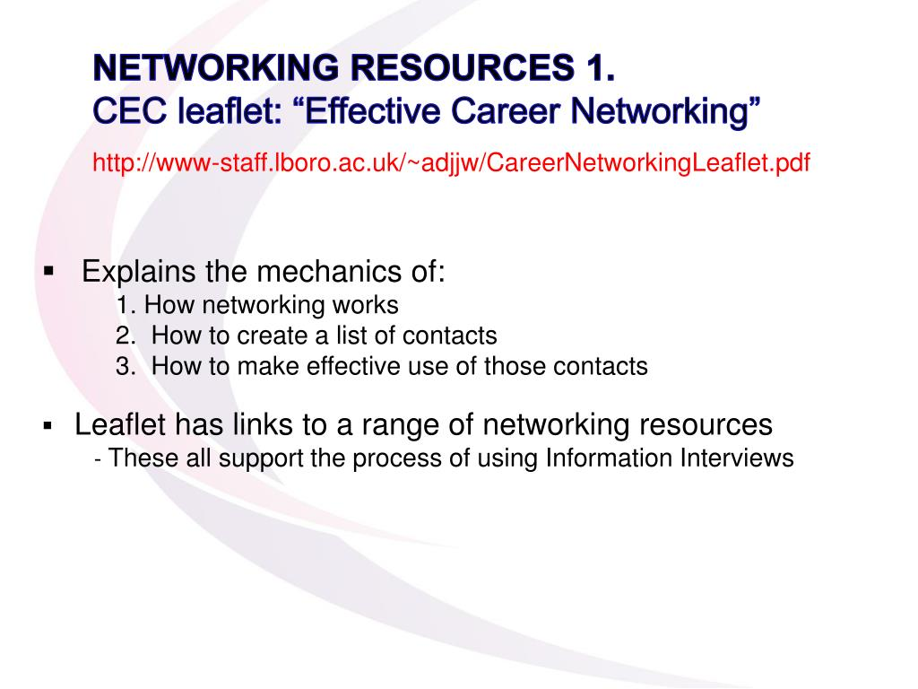 NETWORKING RESOURCES 1.