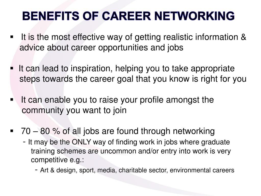 BENEFITS OF CAREER NETWORKING