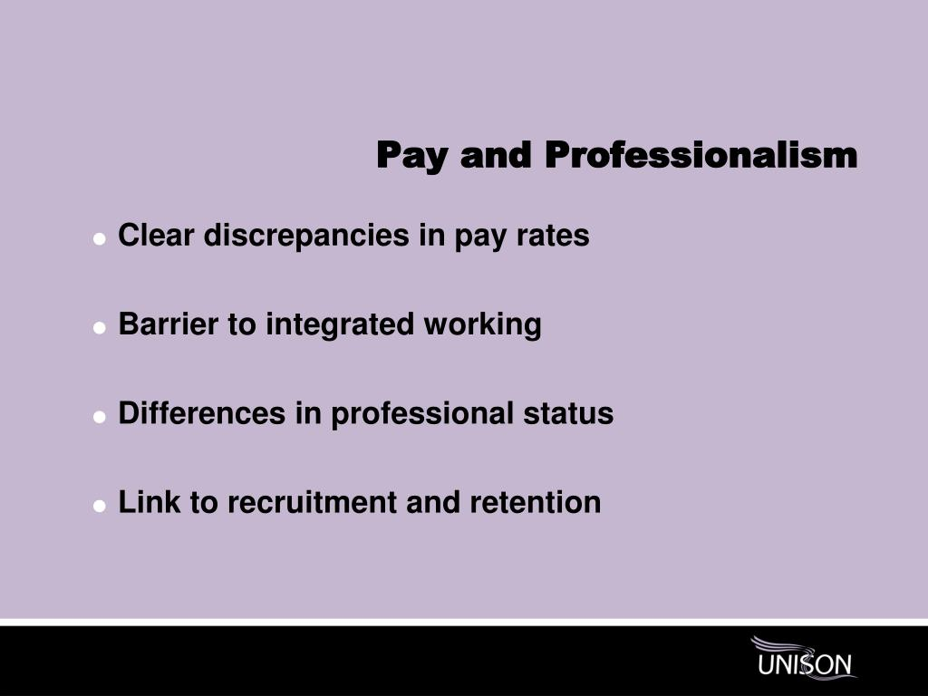 Pay and Professionalism