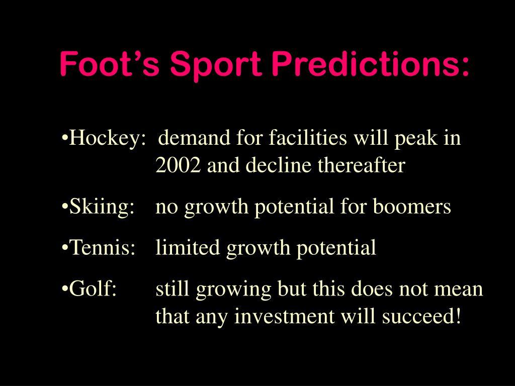 Foot's Sport Predictions:
