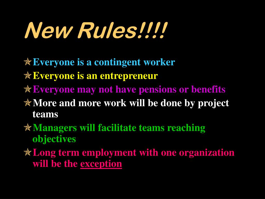 New Rules!!!!