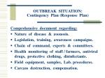 outbreak situation contingency plan response plan