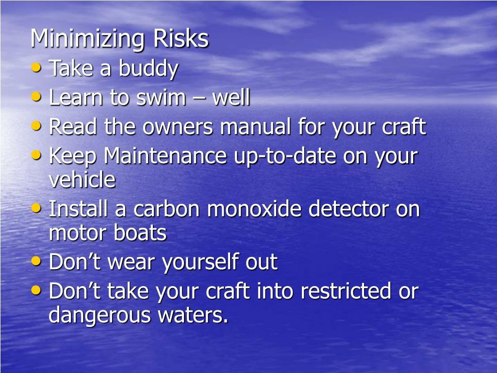 Minimizing Risks
