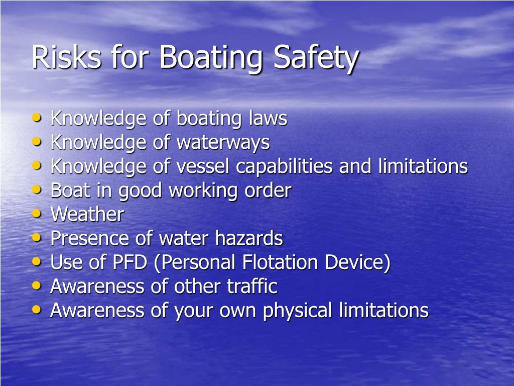 Risks for Boating Safety