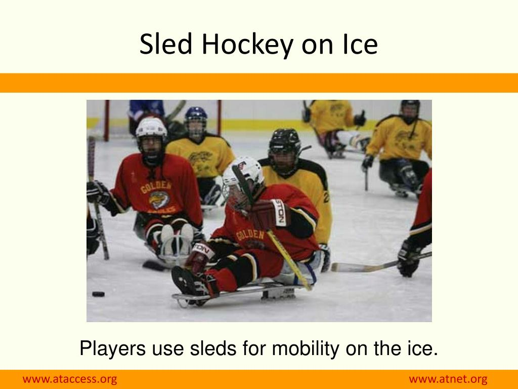 Sled Hockey on Ice