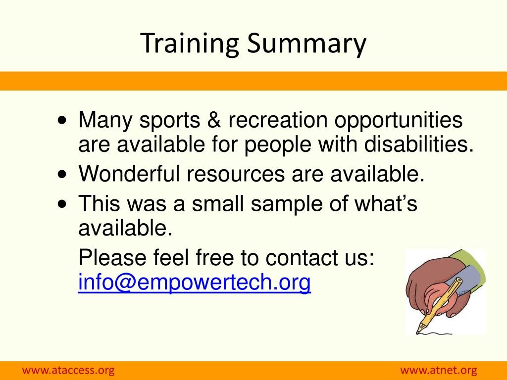 Training Summary
