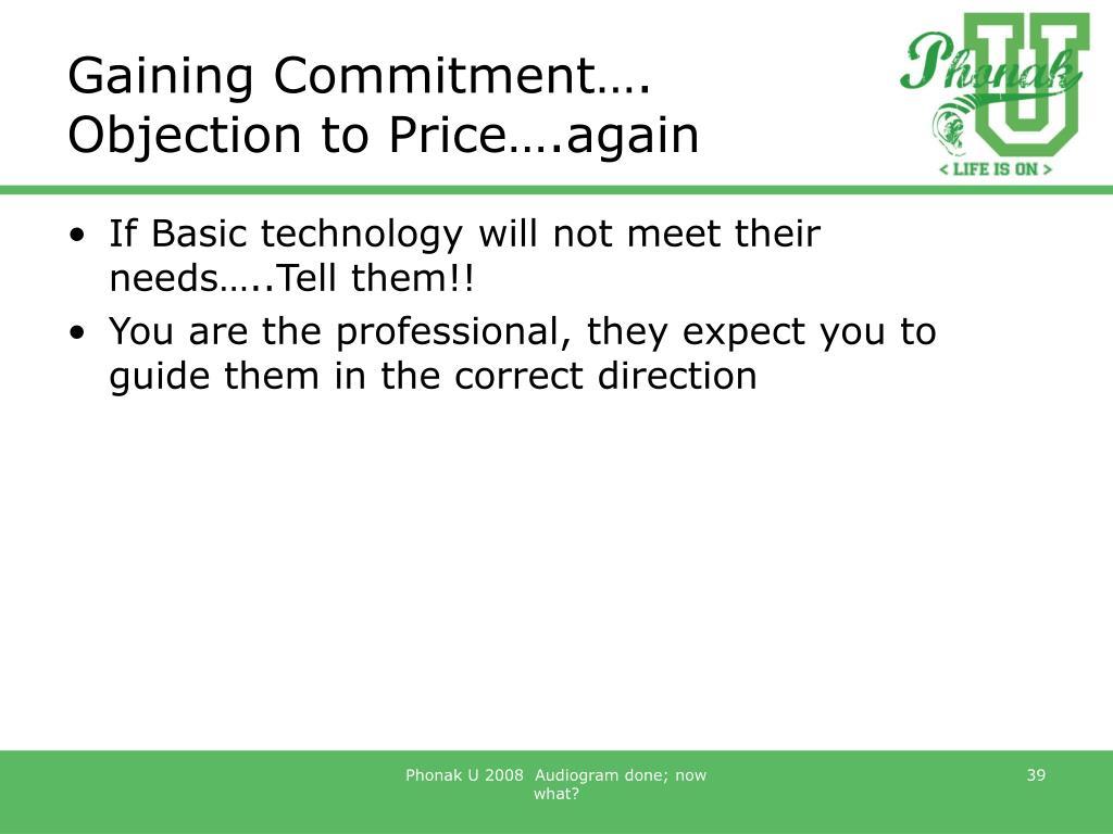 Gaining Commitment….