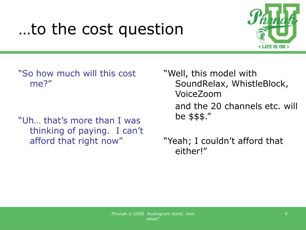 …to the cost question