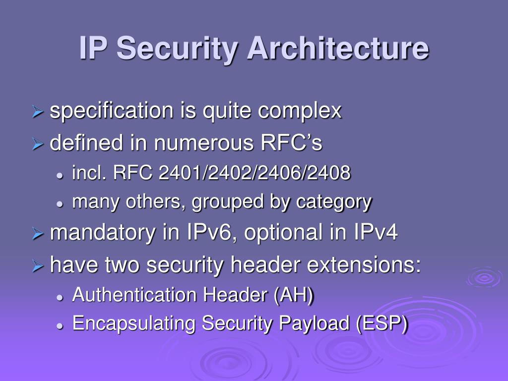 IP Security Architecture