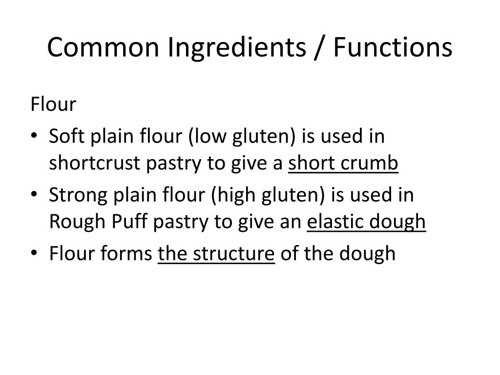 Common Ingredients / Functions