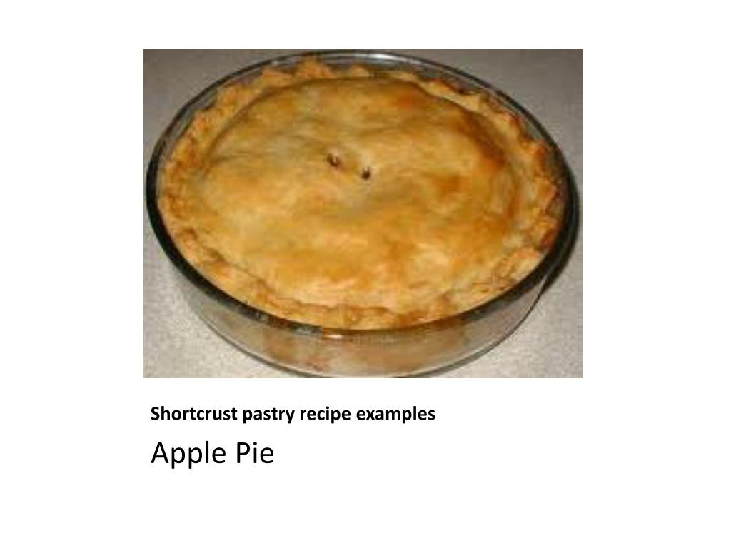 Shortcrust pastry recipe examples