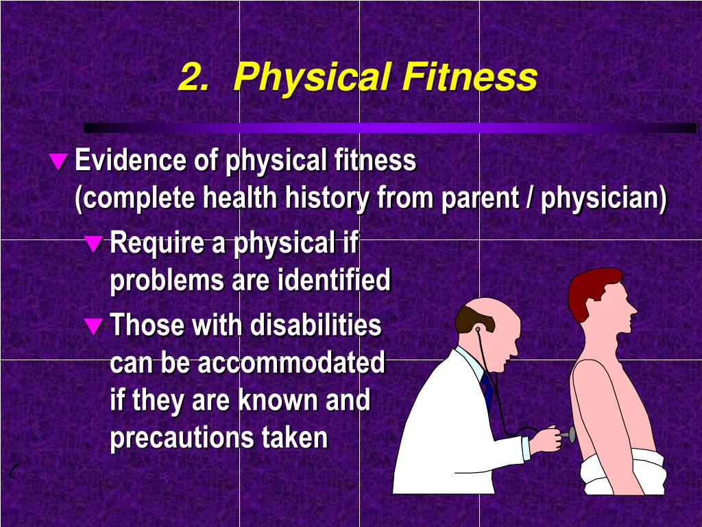 2.  Physical Fitness