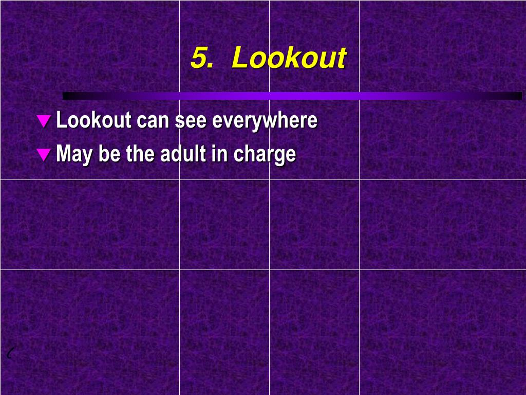 5.  Lookout