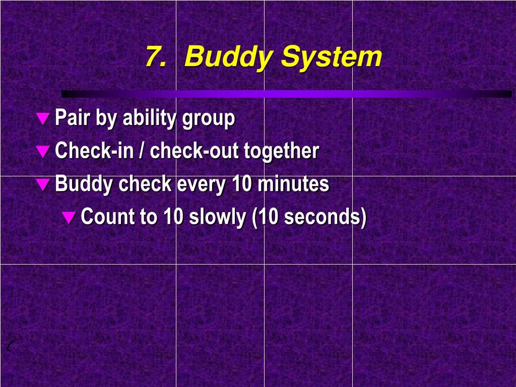 7.  Buddy System