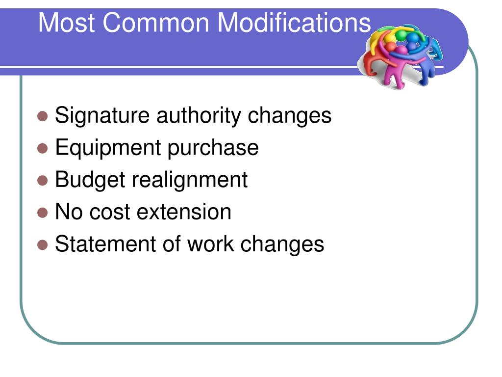 Most Common Modifications