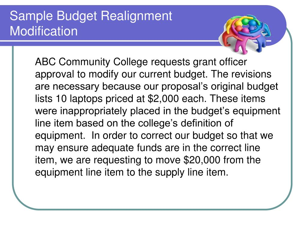 Sample Budget Realignment