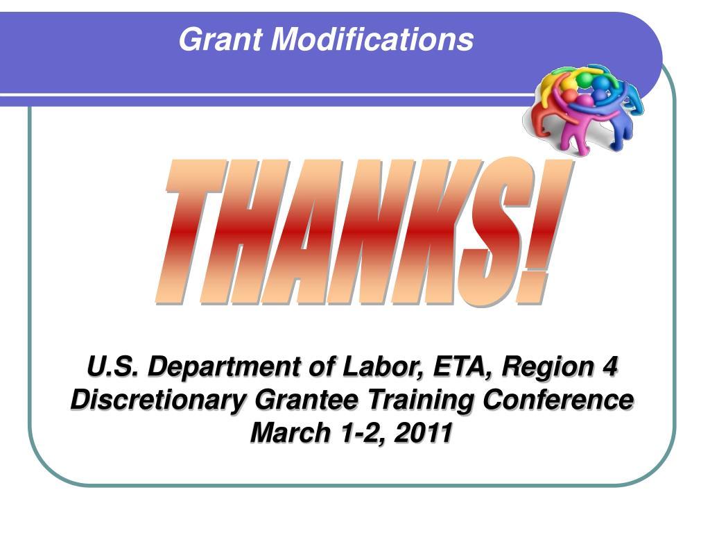 Grant Modifications