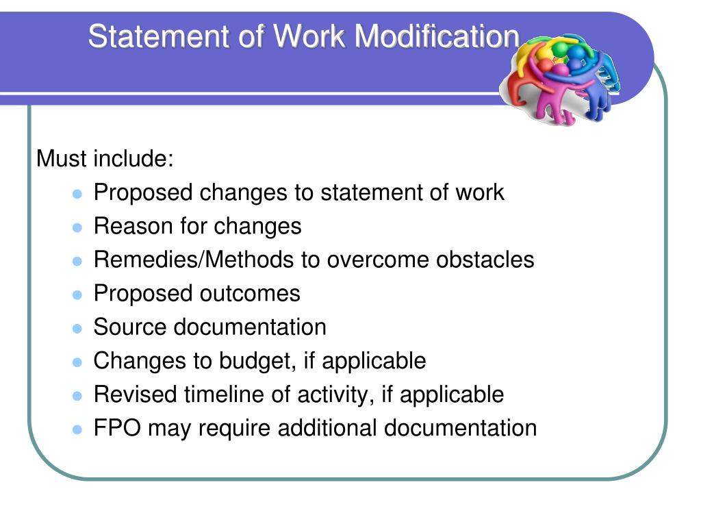 Statement of Work Modification