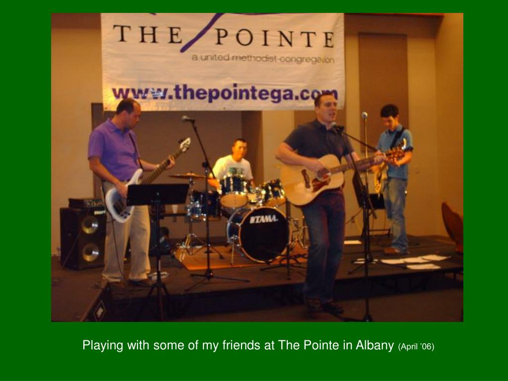 Playing with some of my friends at The Pointe in Albany