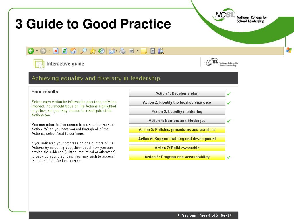 3 Guide to Good Practice