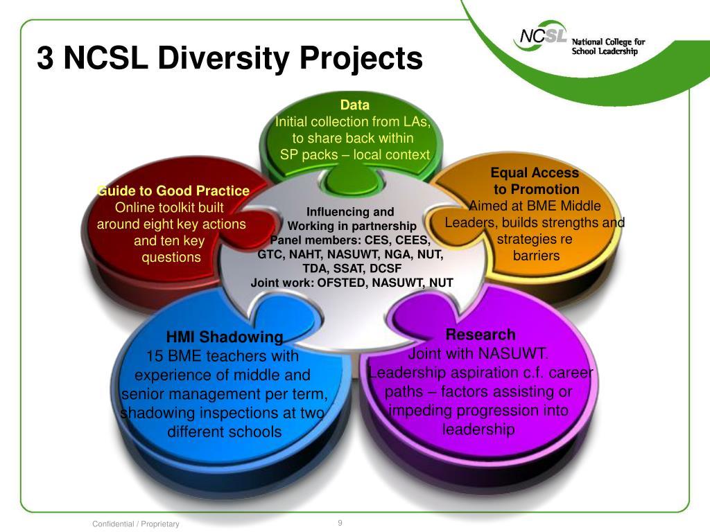 3 NCSL Diversity Projects