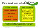 5 what does it mean for leadership