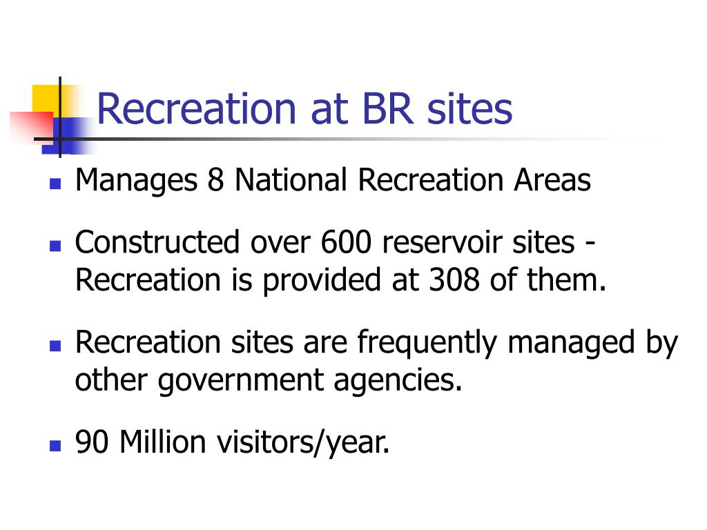 Recreation at BR sites