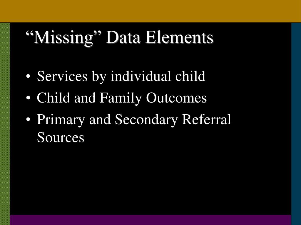 """Missing"" Data Elements"