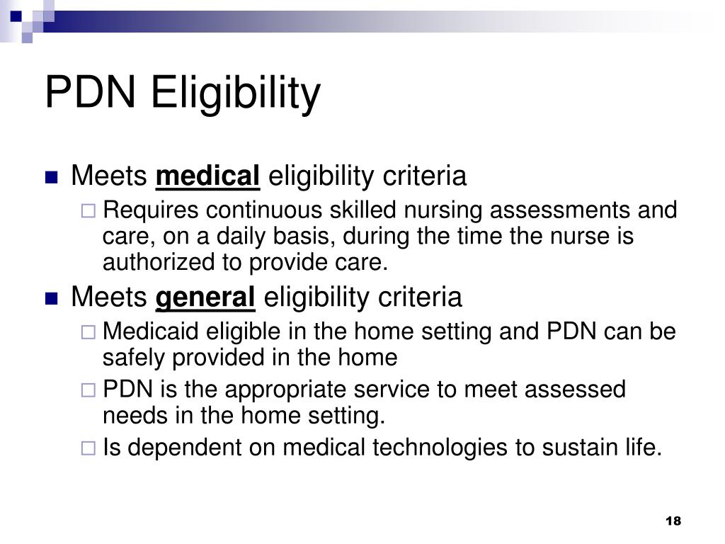 PDN Eligibility