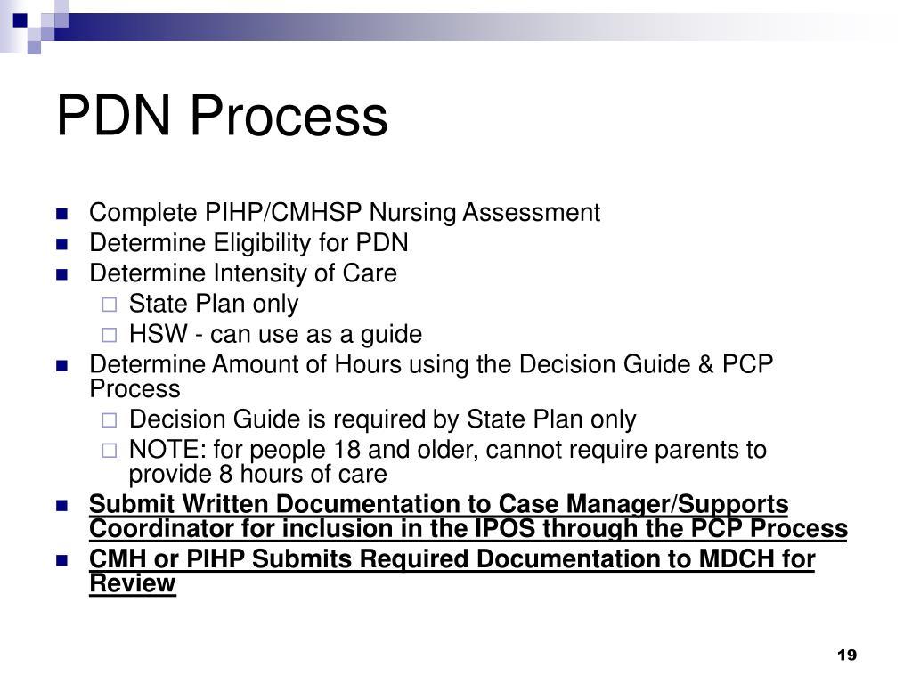 PDN Process