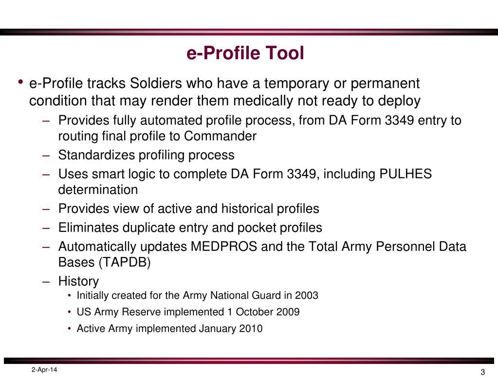 e-Profile Tool