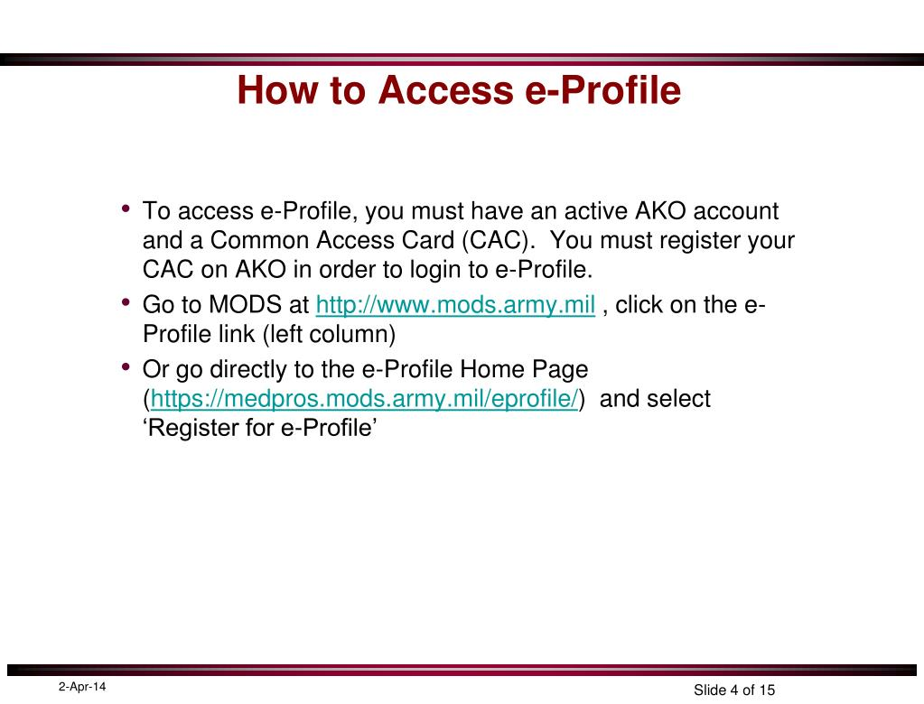 How to Access e-Profile
