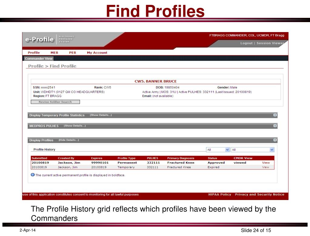 Find Profiles