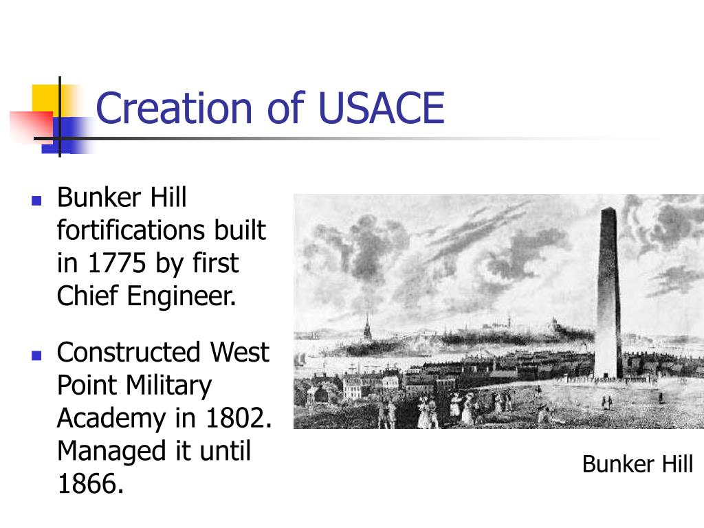 Creation of USACE