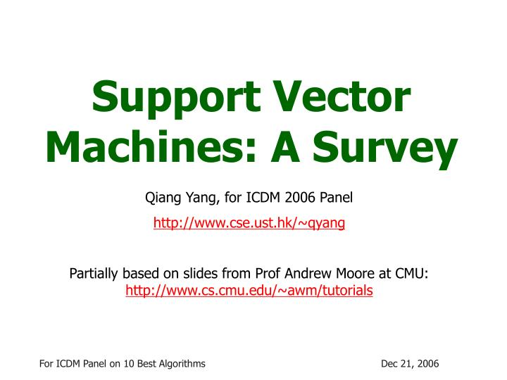 Support vector machines a survey l.jpg